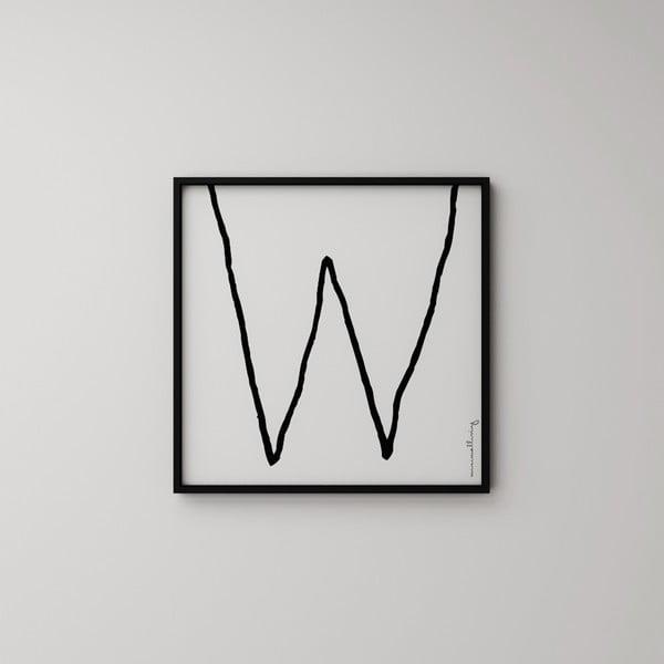 Plakát Litera W, 50x50 cm