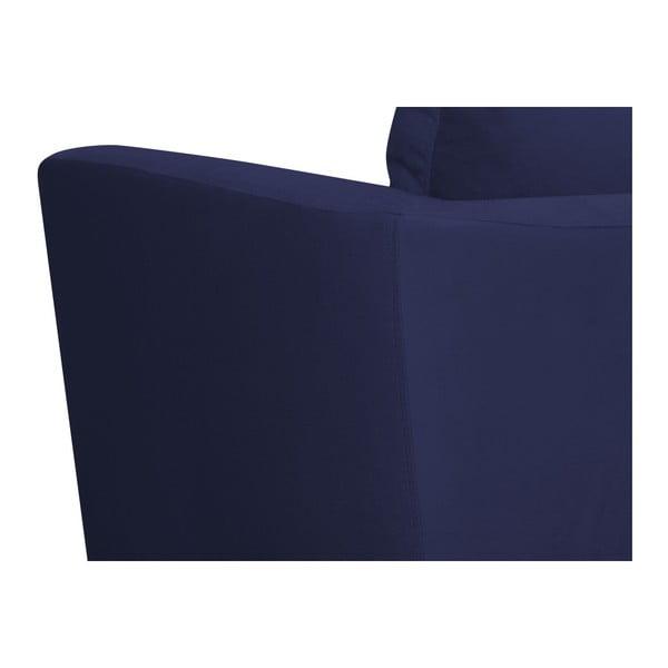 Námořnicky modré křeslo Mazzini Sofas Cotton