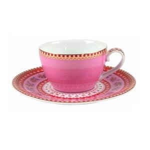 Hrneček na espresso s talířkem, růžový