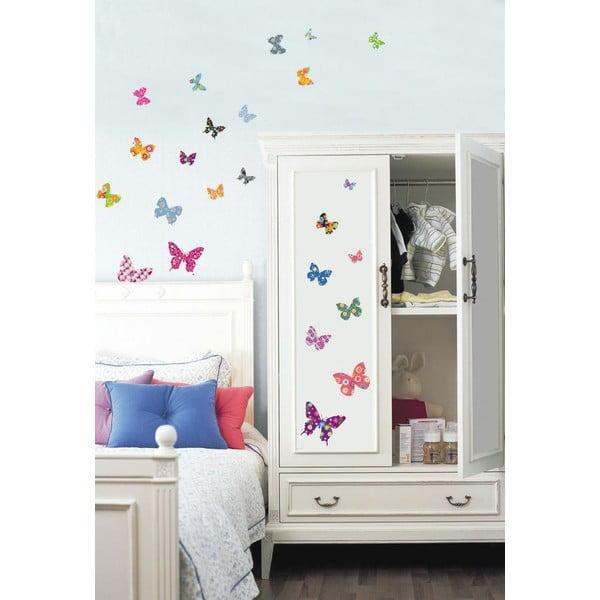 Naklejka Ambiance Butterflies, 25 szt.
