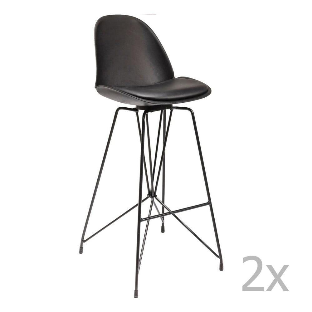 Sada 2 černých barových židli Kare Design Wire Black