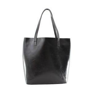 Černá kožená taška Chicca Borse Greta