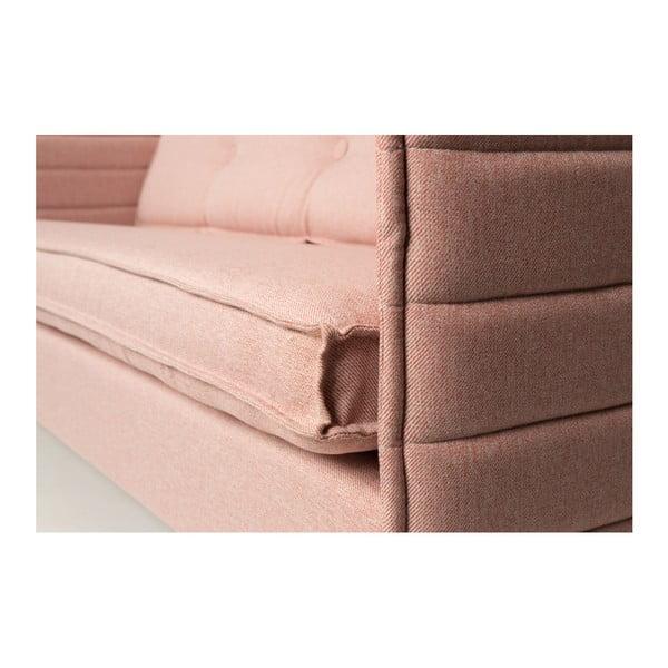 Lososově růžová dvoumístná pohovka  Zuiver Jaey