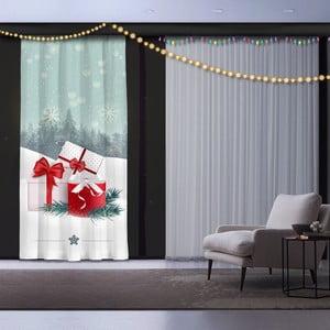 Vánoční závěs Christmas Gift with Ribbon, 140 x 260 cm