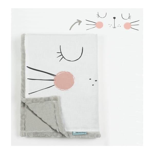Dětská deka Little Nice Things Cat, 170 x 130 cm