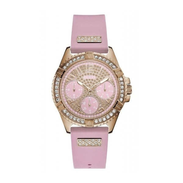 W1160L5 női karóra, rózsaszín szilikon szíjjal - Guess