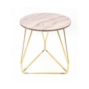 Růžový odkládací stolek 360 Living Adele, ⌀ 37 cm