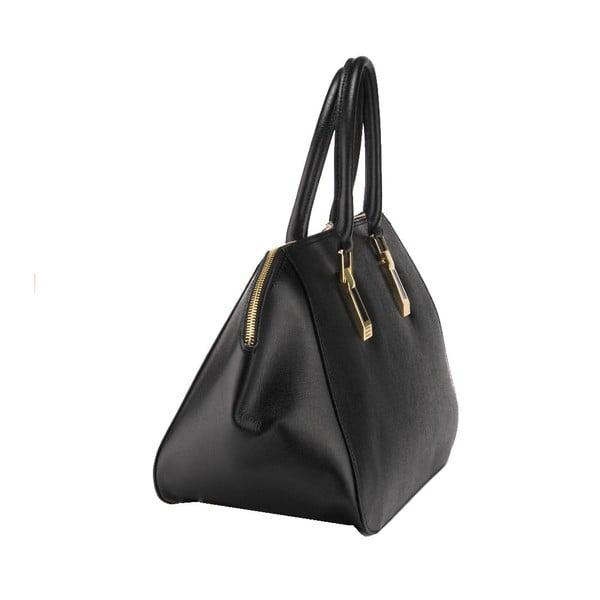 Kožená kabelka Ugni, černá