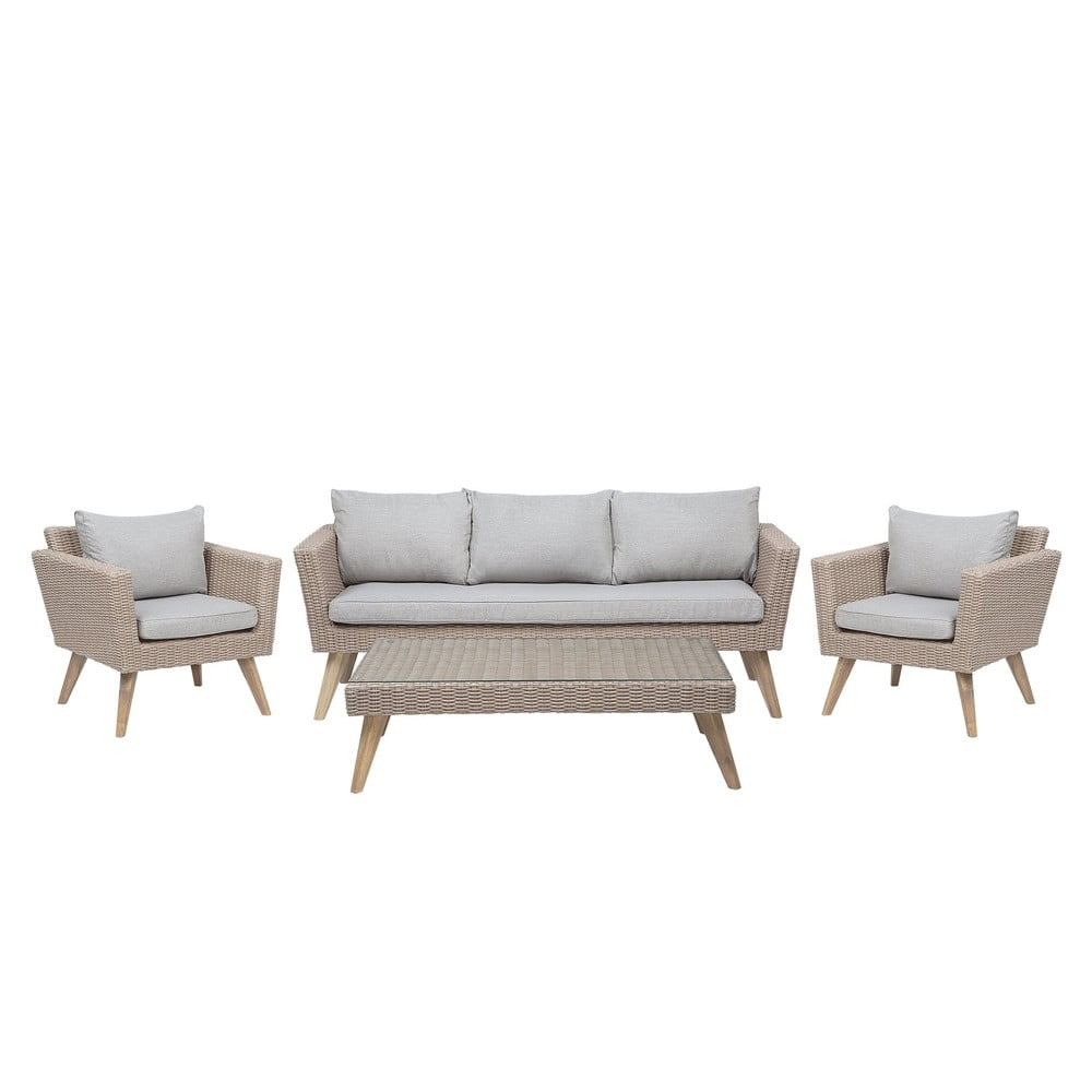 Set zahradního nábytku z umělého ratanu Monobeli Rome