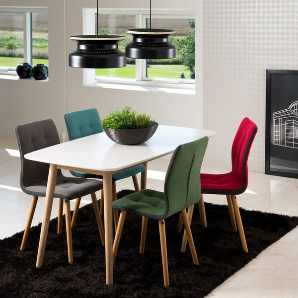 Sada 2 jídelních židlí Frida, zelená
