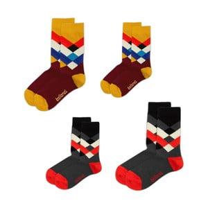 Sada 4 ponožek Love Pack Diamond