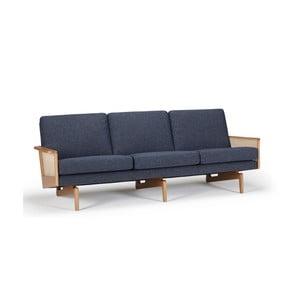 Canapea cu 3 locuri Kragelund Egsmark, albastru