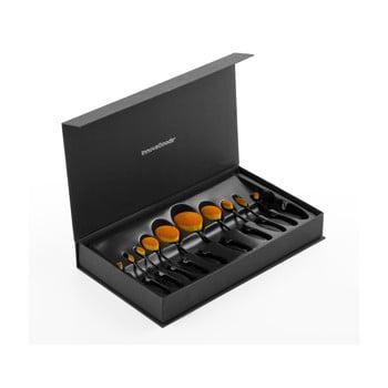 Set 11 perii cosmetice ovale în cutie de depozitare InnovaGoods de la InnovaGoods