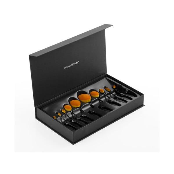 Komplet 11 owalnych pędzli kosmetycznych w pudełku InnovaGoods