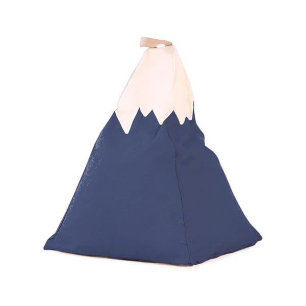 Modrý dekorativní puf Little Nice Things Mountain