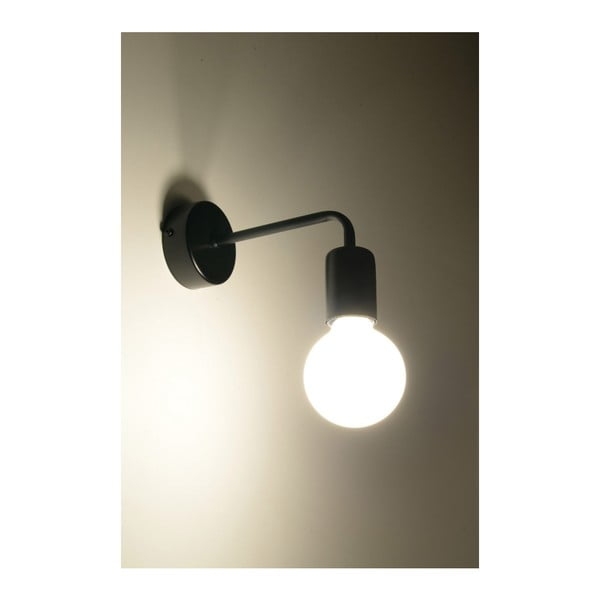 Černé nástěnné svítidlo Nice Lamps Donato