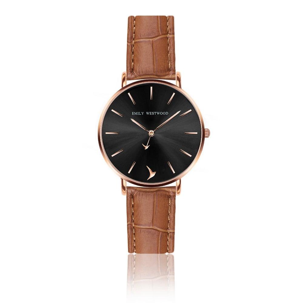 Dámské hodinky s hnědým páskem z pravé kůže Emily Westwood Claire 5546ec1957