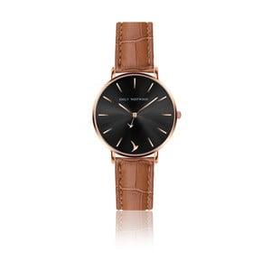 Dámské hodinky s hnědým páskem z pravé kůže Emily Westwood Claire