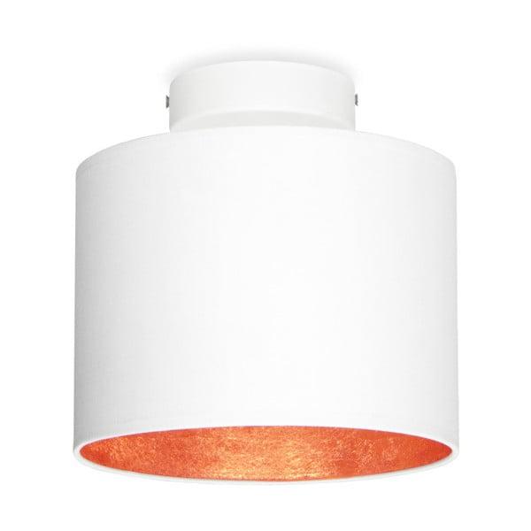 Bílé stropní svítidlo s detailem v měděné barvě Sotto Luce MIKA Elementary XS CP