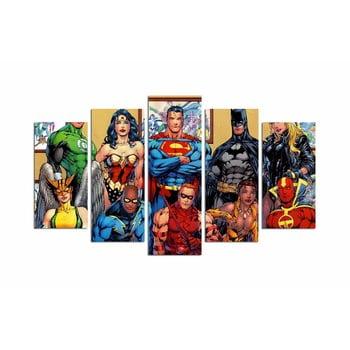 Tablou din 5 piese Super Heroes imagine