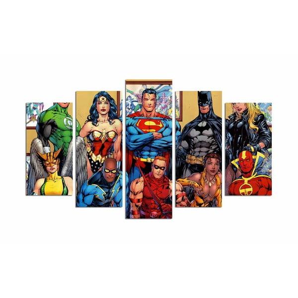 Tablou din 5 piese Super Heroes