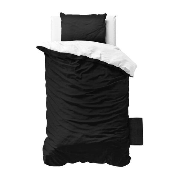 Čierno-biele obliečky z mikroperkálu na jednolôžko Zensation Twin Face, 140×200 cm