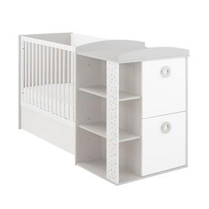Pătuț pentru copii cu spațiu de depozitare și masă pentru schimbat Galipette Zoé, 60 x 120 cm