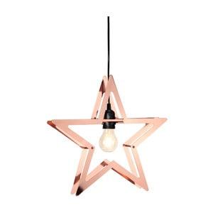 Závěsná LED hvězda v barvě mědi Best Season