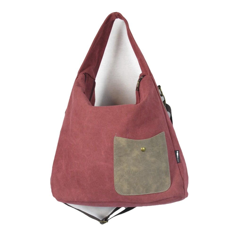 Červená plátěná taška Sorela Nadya