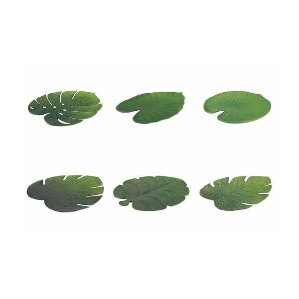 Sada 6 prostírání ve tvaru listů Villad'Este Jungle