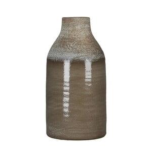 Hnědá váza Mica Belinda, 30x16cm
