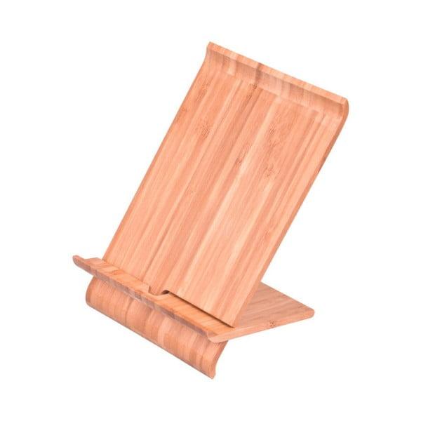 Bambusz telefon/tablet tartó állvány, magasság 28 cm - Bambum