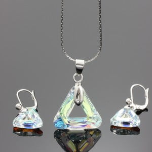 Set Swarovski Elements Triangles AB