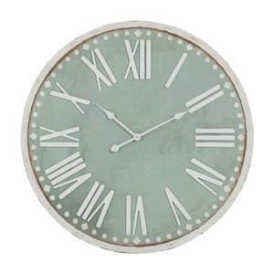 Nástěnné hodiny Rom Num Green, 80x80 cm