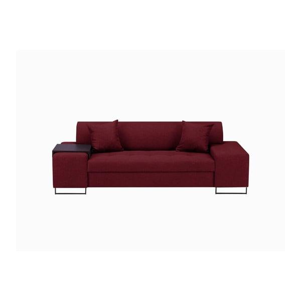 Červená trojmístná pohovka s nohami v černé barvě Cosmopolitan Design Orlando