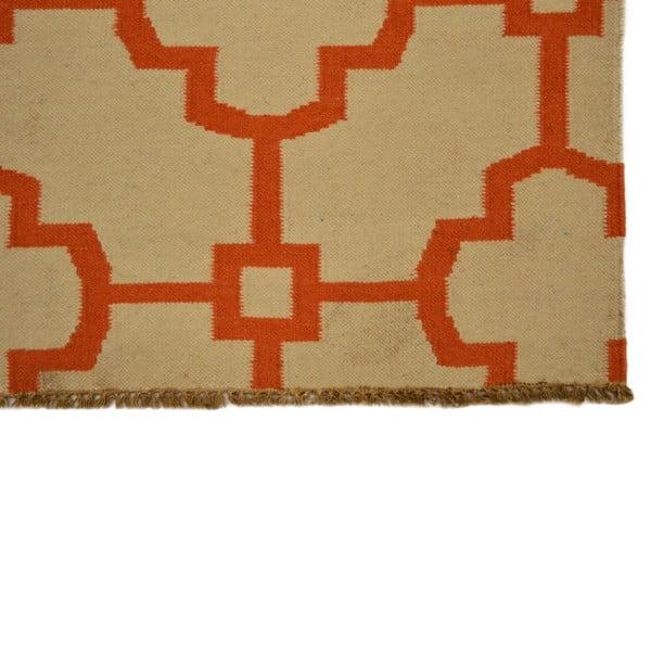 Ručně tkaný koberec Orange Mozaic, 150x245 cm