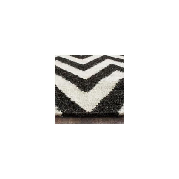 Vlněný koberec Nelli 121x182 cm, černý