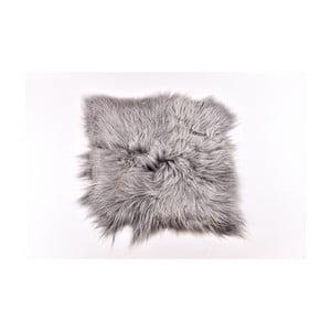 Covor din blană cu fir lung Busta, 100 x 90 cm, gri