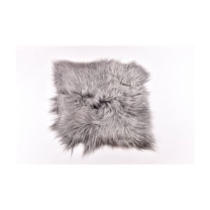 Šedý kožešinový koberec s dlouhým chlupem Arctic Fur Busta, 100x90cm