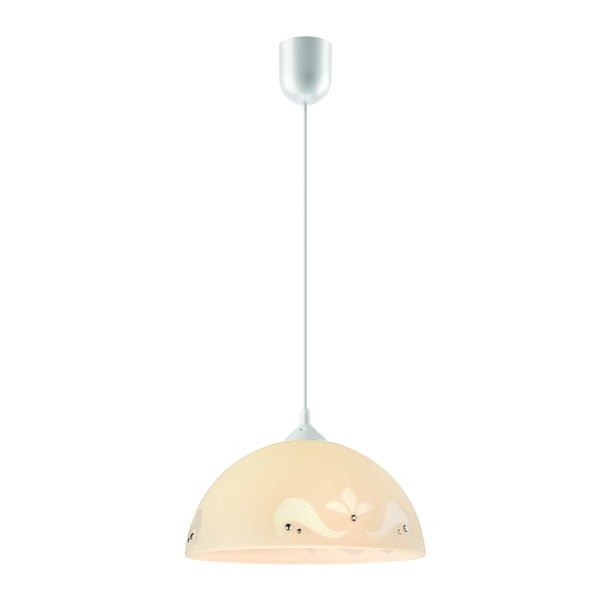 Beżowa lampa wisząca Lamkur Glam