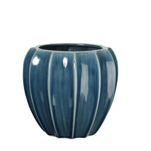Keramická váza Iza Blue, 22 cm