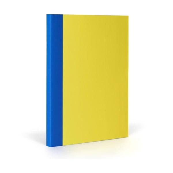 Zápisník FANTASTICPAPER XL Lemon/Blue, řádkovaný