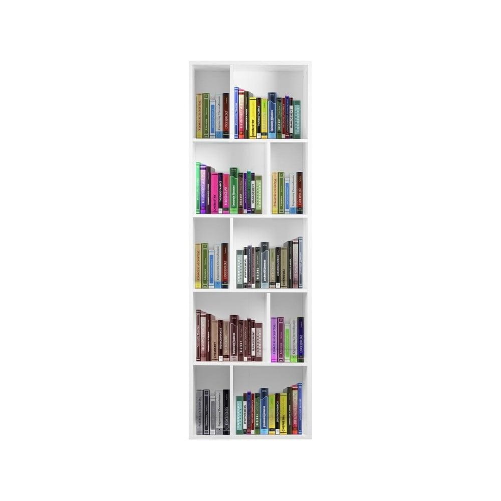 Bílá dřevěná knihovna Esidra Efran