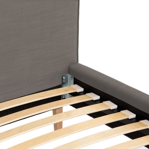 Šedá postel Vivonita Kent Linen, 200x160cm