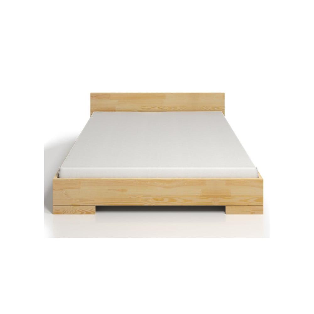 Dvoulůžková postel z borovicového dřeva s úložným prostorem SKANDICA Spectrum, 140 x 200 cm