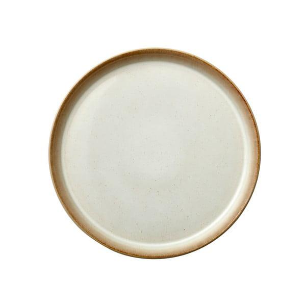 Basic Cream krémszínű agyagkerámia lapostányér, ⌀ 27 cm - Bitz