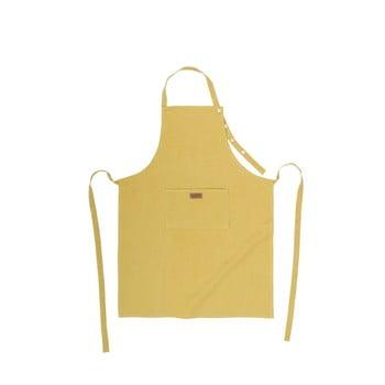 Șorț de bucătărie cu adaos de in Tiseco Home Studio, galben de la Tiseco Home Studio