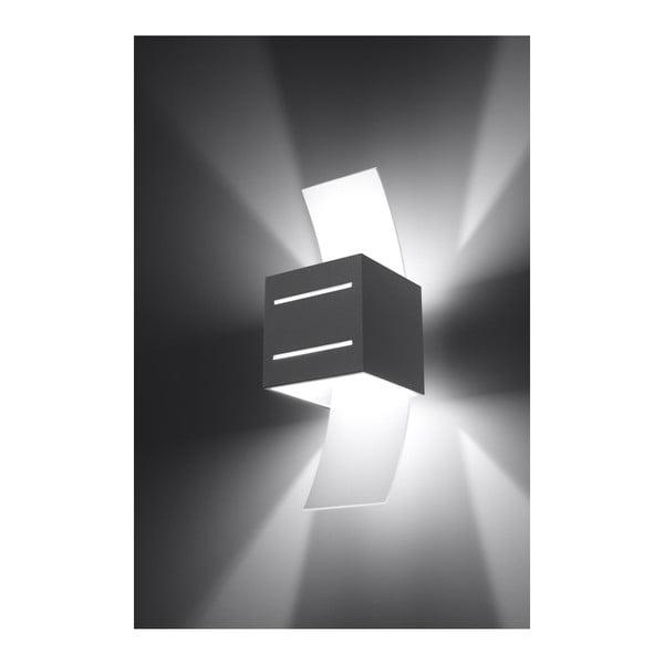 Šedé nástěnné svítidlo Nice Lamps Carlo