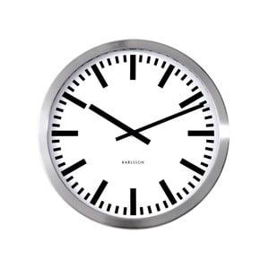 Ceas de perete mare Present Time Station, gri