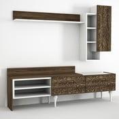 Set comodă TV, raft și dulap perete Lenti